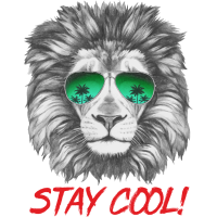 Animal Design Lion Stay Cool - RAHMENLOS Geschenk zum Geburtstag