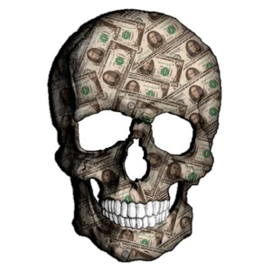 Skull Money Black