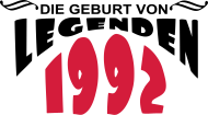 Jahrgang 1990 Geburtstagsshirt: 1992 legenden
