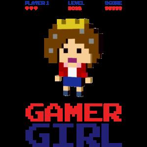 8-bit gaming girl gamer arcade boss