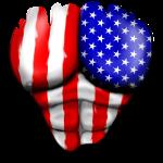 Amerika Flagge Gerippt Muskeln