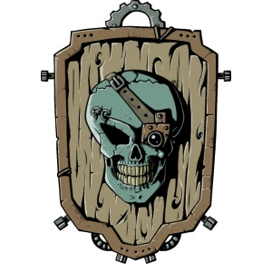 Wooden Skull Shield