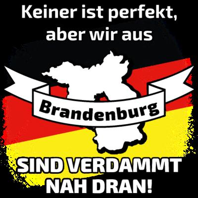 Perfekt Brandenburg - Keiner ist perfekt - zuhause,stolz,schland,sarkasmus,ironie,heimat,heim,geborgen,deutschland,bundesland,arroganz,arrogant,Perfektion,Perfekt,National,Land,Brandenburg