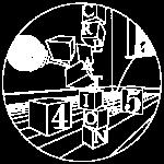 45 Logo White