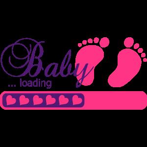 Baby loading Schwangerschaft Herzchen Ladebalken