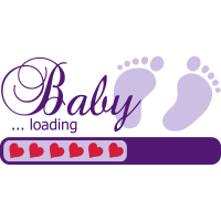 Baby loading Herz Ladebalken Schwanger pregnant