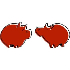 Cochons rouges