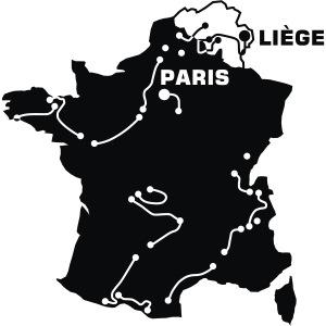 Tour de France Karte