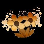 Blumenmotiv mit Vögel
