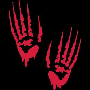 Blutige Hände Bloody Hands Horror Splatter Kill