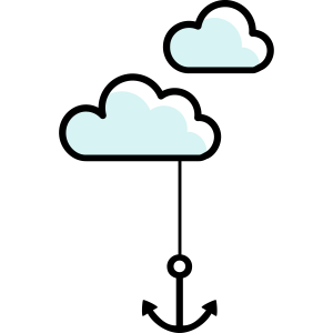 Anker mit Wolke