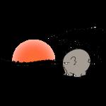 Ngumbe im Sonnenuntergang