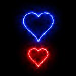 Handy Herzen blau rot