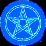 Pentagramm blau Energie