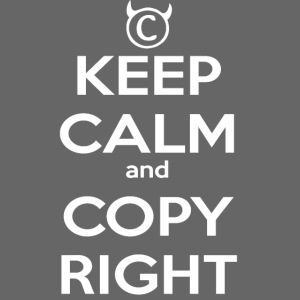 Keep Calm and Copyright - Tank for the individual