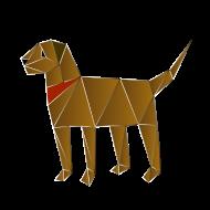 Origami Hund auf Spreadshirt © cso-munich.de