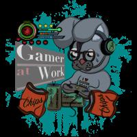 Gamer Hase Gamer at Work