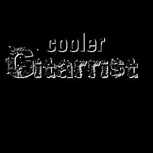 Cooler Gitarrist schwarz