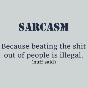Sarcasm - Blue