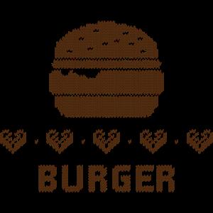 Strickmuster: Burger Love