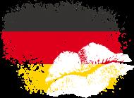 Fan-Shirt: Fahne Deutschland Kussmund/Lippen - Fanshirt