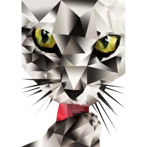 Katze Polygon Style