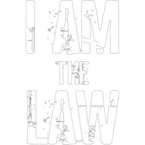 Tank top girl woman I AM THE LAW per avvocatessa
