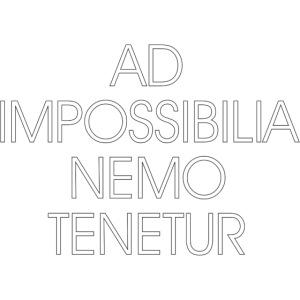 Ad Impossibilia Nemo Tenetur t-shirt avvocato