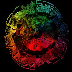 I am Music Grunge Color