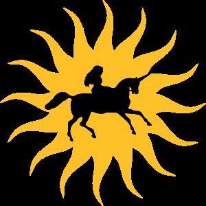 Sonne mit Einhorn