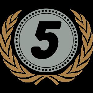 5 Jubiläum Lorbeerkranz