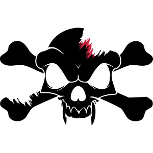 SKULL N CROSS BONES.svg