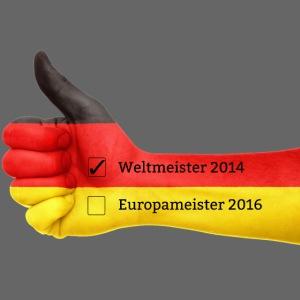 2016 Deutschland Flagge Europameister Weltmeister