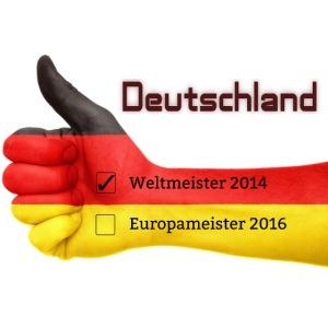 Deutschland Flagge Weltmeister Europameister 2016