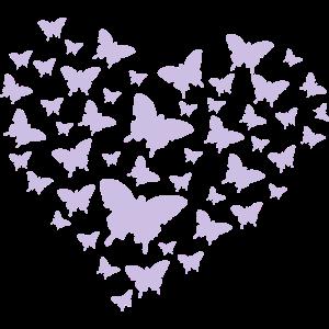 Schmetterlinge Herz