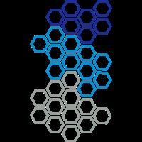 Sechseck Hexagon Muster Netz Modern Mosaik