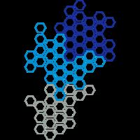 Sechseck Hexagon Muster Sportlich Modern Kunst