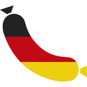 German flag & sausage