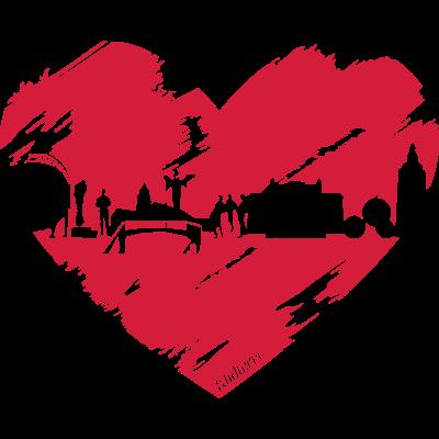 Heart - Wie sehr ihr Gießen und seine Sehenswürdigkeiten liebt, kann man jetzt erst recht mit diesem Motiv zeigen! - Skyline,Klufterei,Herz,Gießen