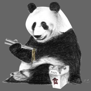 Panda Eating Noodles