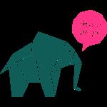 Elefant Sprechblase