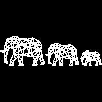 Geometrische Elefantenfamilie