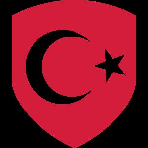 Türkische Flagge - Wappen