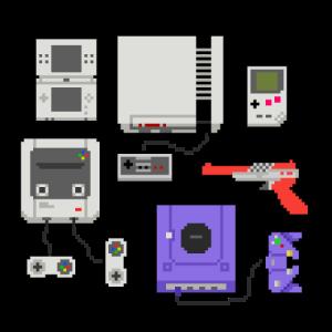 Pixel art console
