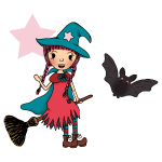 Witch Penelope in the Air