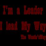 I lead My Way Brown
