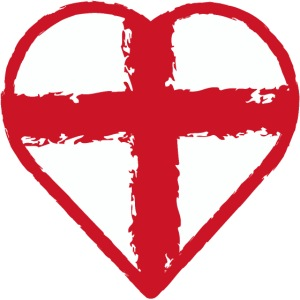 Heart St George England flag