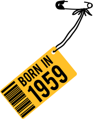Jahrgang 1950 Geburtstagsshirt: born in 1959