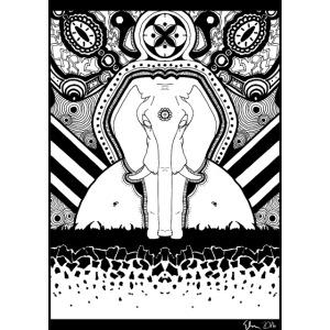 Psychedelic Elephant