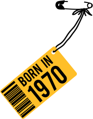 Jahrgang 1970 Geburtstagsshirt: born in 1970